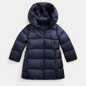 POLO RALPH LAUREN Girls Quilted Hooded Down Coat